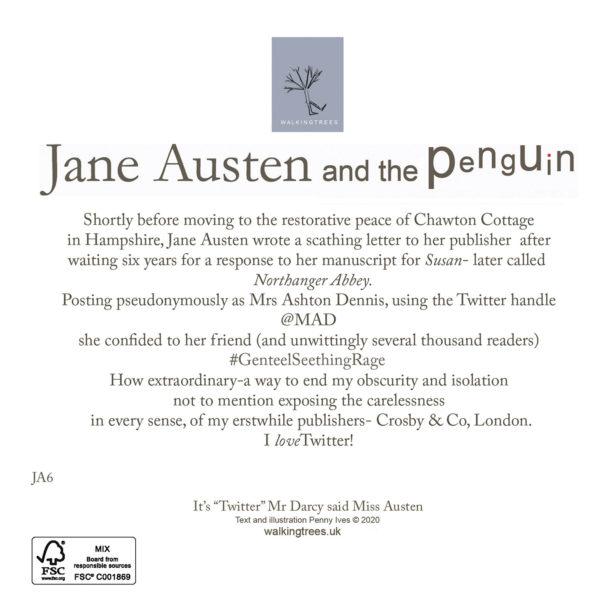 "It's ""Twitter"" Mr Darcy said Miss Austen back"